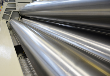 Induction hardened, polished rolls